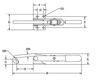 Latch Type Toggle Clamps - 1251 Series