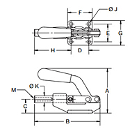 Push/Pull Action Toggle Clamps - 1303 Series