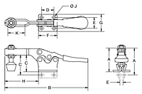 Horizontal Handle Toggle Clamps - 1415 Series