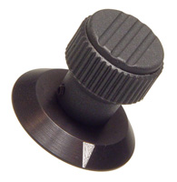 Plastic - Aluminum Skirt - Pointer Knob with Skirt - Metric