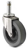 Light Duty - Spring Ring Stem Casters - Capacity to 75 lbs