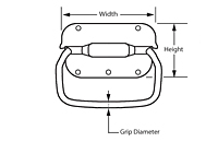 Round Grip - Cushion - Style 1 Pull Handles