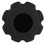 Fluted Soft Touch Knob - Inch