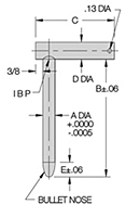 L Alignment Pins - Metric