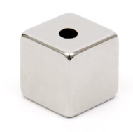 Neodymium Cube Magnets - With Holes