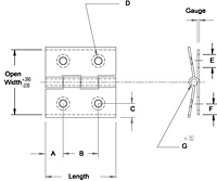 Steel Friction Butt Hinge