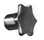 6-Pronged - Cast Iron Knob - HKS Series - Inch