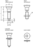 Indexing Plunger - No Collar - Locking Bolt Hardened - Steel - Metric
