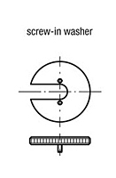 Screw-in Washer for Indexing Plunger