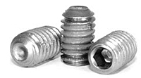 Cup Point Socket Set Screws, Nylon Patch, Stainless Steel 18 8