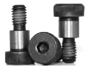 Socket Shoulder Screws, Nylon Patch, Black, Alloy