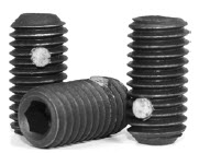 Cup Point Socket Set Screws, Nylon Pellet, Black, Alloy