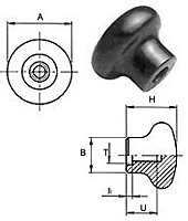 Plastic Ball Lever Bulb Knobs - Metric