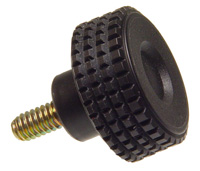 Diamond Knurl High Impact Knob - Stud - Inch