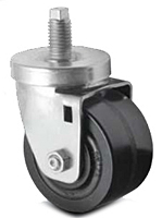 Business Machine - Single Wide Wheel - Spring Ring Stem/Threaded Stem - Capacity to 500 lbs
