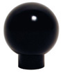 Phenolic Ball Knob with Shank, Brass Insert