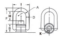 Heavy Duty Weld Mount Hoist Ring - Inch