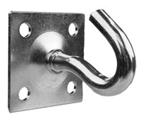 Steel Hook - Zinc Plated - 4 Screws