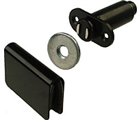 Plastic Magnetic Catches - 2 Holes
