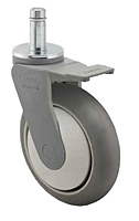 Medium Duty - Thermoplastic - Spring Ring Stem Casters - Capacity to 300 lbs