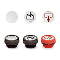 Plates with Graphic Symbols for Oil Plugs