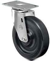 Light Duty - Wide Wheel - Series Swivel Top Plate - Capacity to 220 lbs