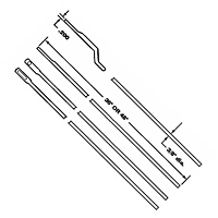 "3/8"" Steel Rods for use with 6011 Rod Locks"