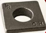 3340 Square Beveled Malleable Washer, Plain