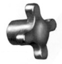 Cast Iron Knob - HK Series - Inch