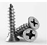 Self Tapping Screw, Phillips Flat Head, Type A, Stainless Steel 18 8