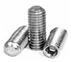 Flat Point Socket Set Screws, Stainless Steel 18 8