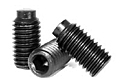 Dog Point Socket Set Screws, 45H DIN 915, Plain, Alloy