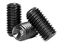 Knurled Cup Point Socket Set Screws, 45H ISO 4029, Plain, Alloy