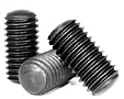 Oval Point Socket Set Screws, Plain, Alloy