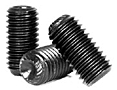 Knurled Cup Point Socket Set Screws, Plain, Alloy