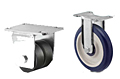 Light Duty Rigid Top Plate Casters - Capacity to 200 lbs