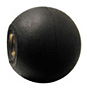 Rubber Ball Knob, Brass Insert