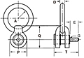 Side Pull Hoist Rings - Inch