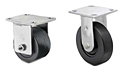 Medium Duty Rigid Top Plate Casters - Capacity to 400 lbs
